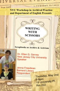 May 2 Writing with scissors